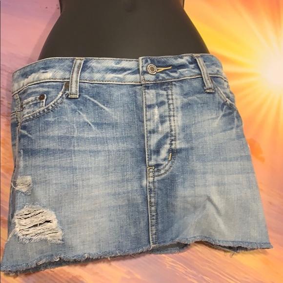 Skirts American Eagle Aeo Blue Light Wash Pockets Distressed Denim Jean Mini Skirt Sz 6 Special Summer Sale